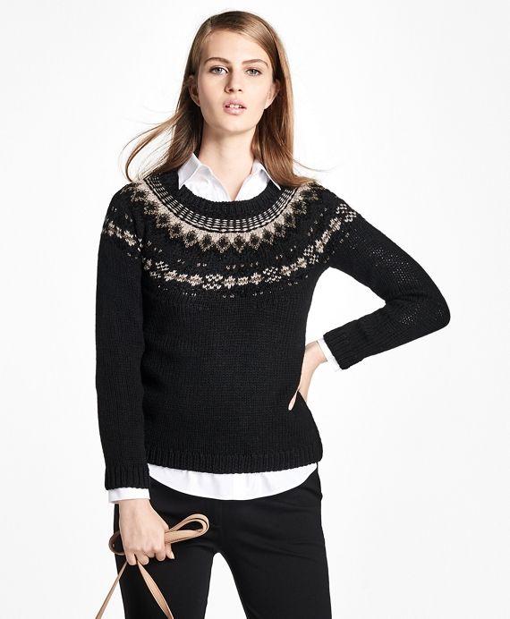 Wool Fair Isle Crewneck Sweater | Fair isles, Wool and The o'jays