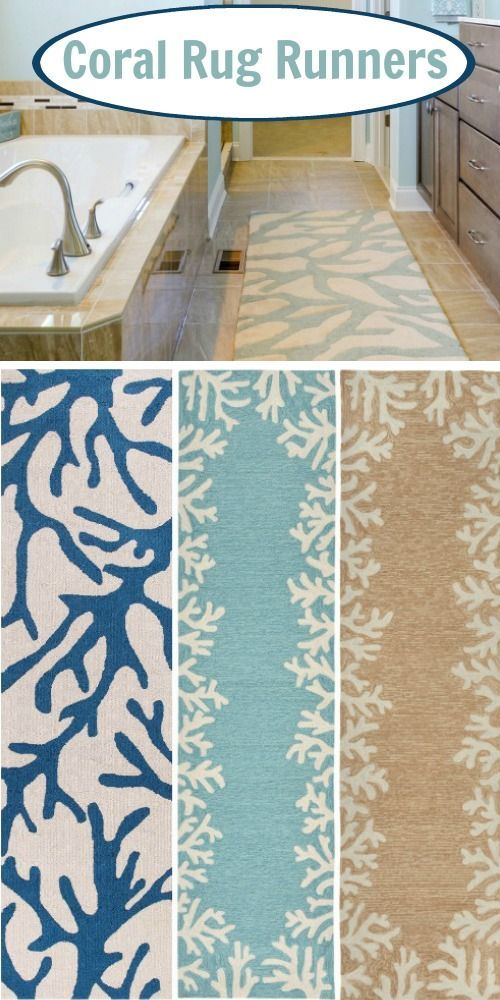 Shop The Look: Http://www.completely Coastal.com/2017/01/coral Branch Rugs Indoor Outdoor.html  Rug Runners For The Bathroom, Kitchen, Hallway!