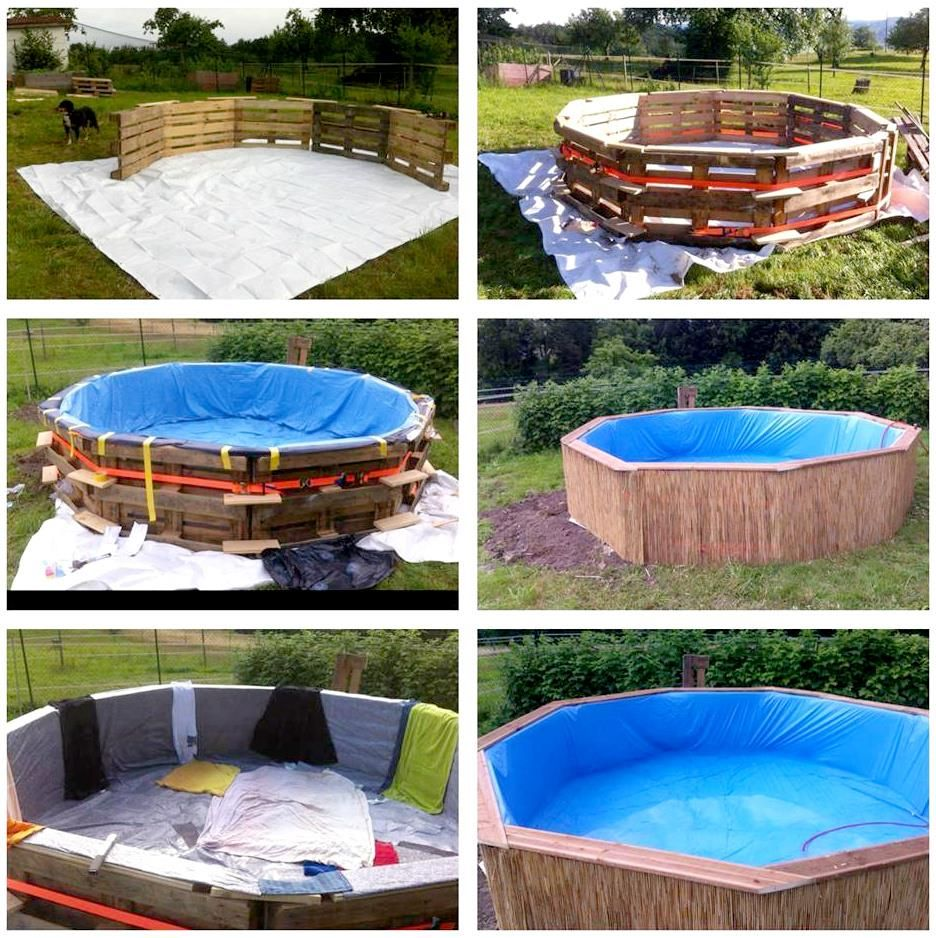Diy pallet swimming pool tutorial outside pinterest - How to make a homemade swimming pool ...