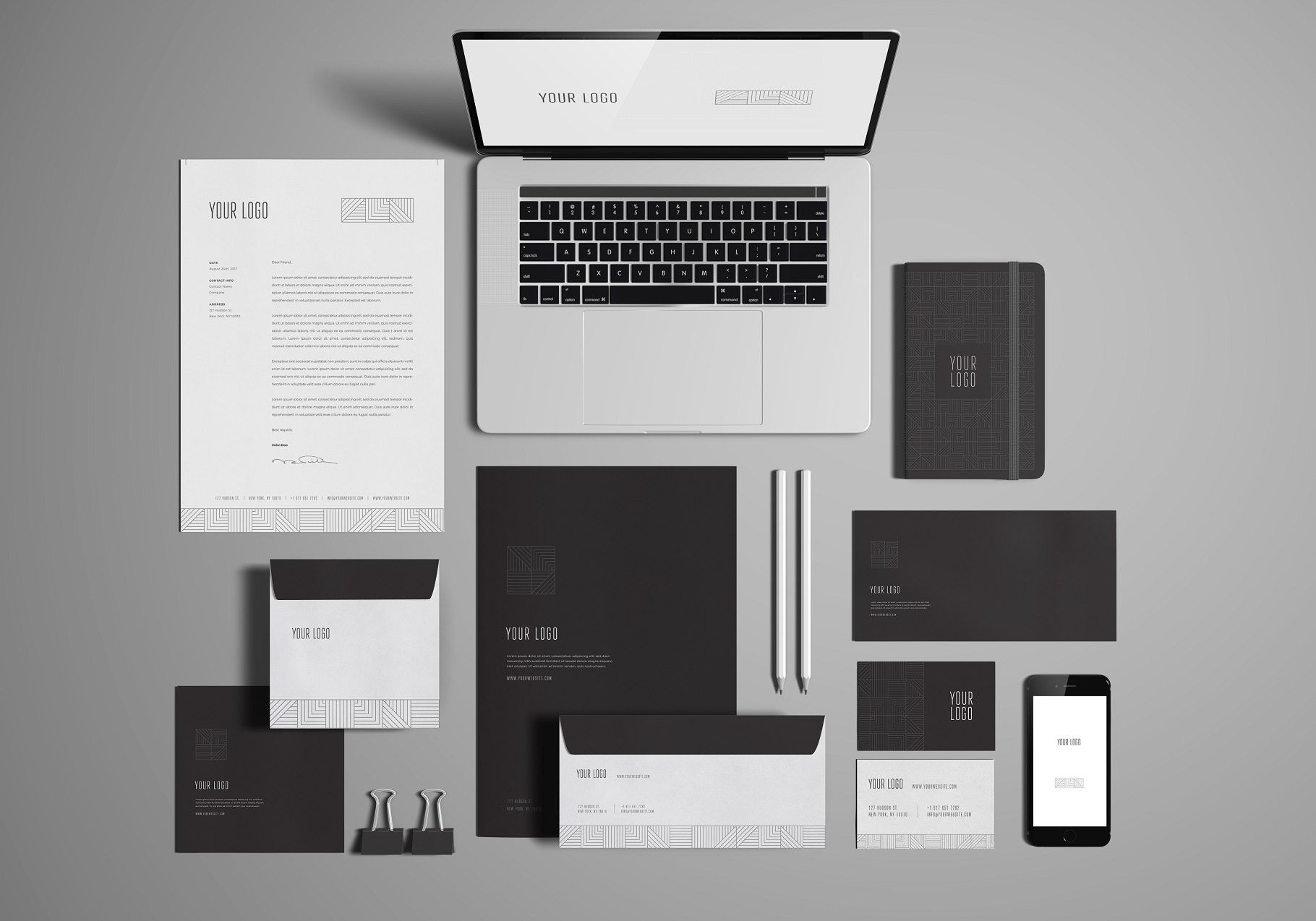 Free Stationery Branding Mock Up On Behance
