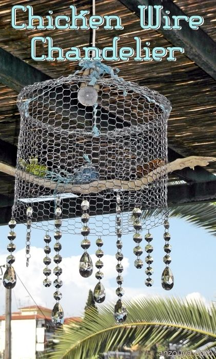 Chicken wire chandelier diy i kind of want to make this for my porch chicken wire chandelier diy i kind of want to make this for my porch not greentooth Images