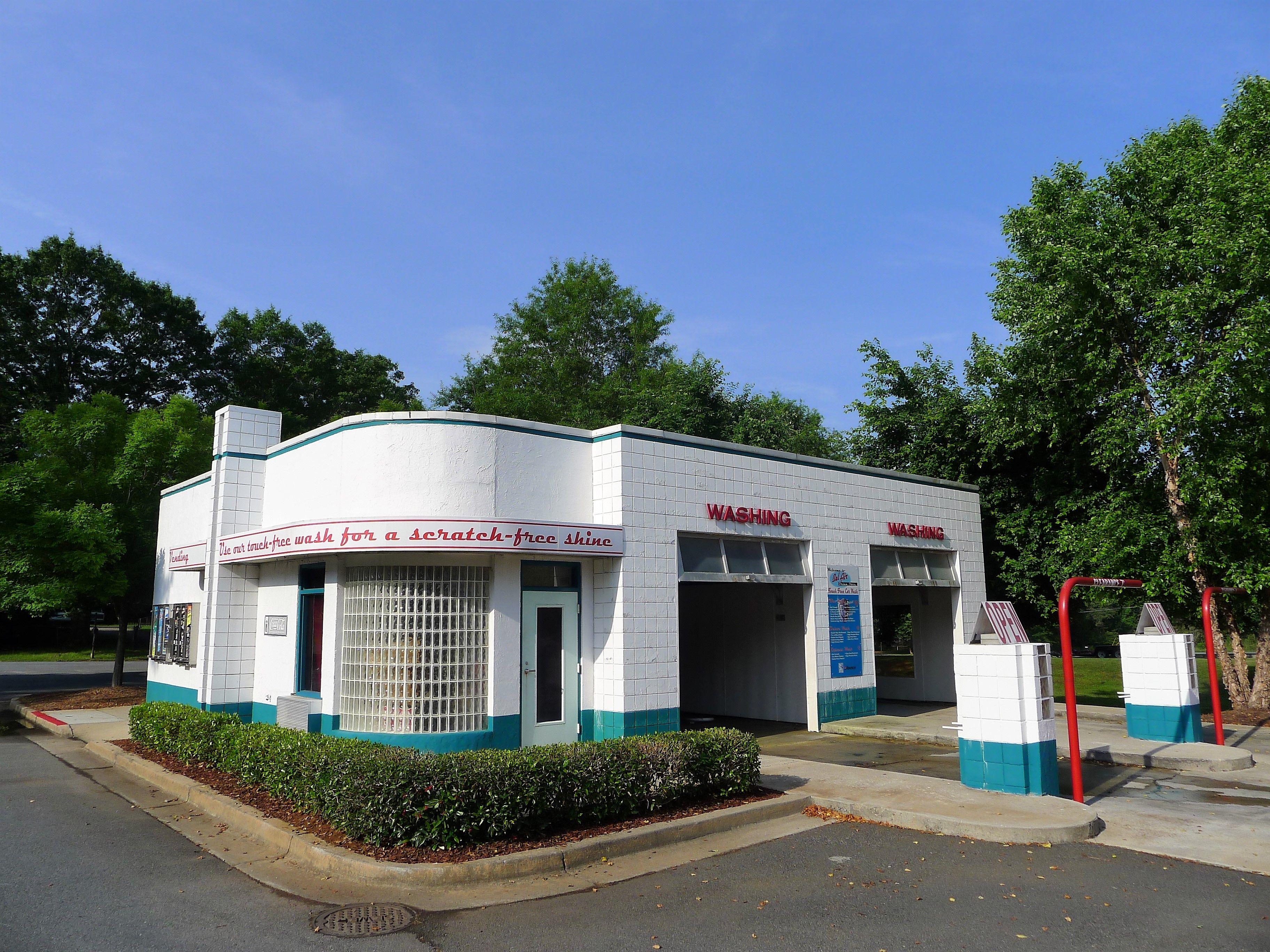 Gas Station With Drive Thru Car Wash >> Retro Drive Thru Car Wash Vintage Gas Stations Gas Pumps