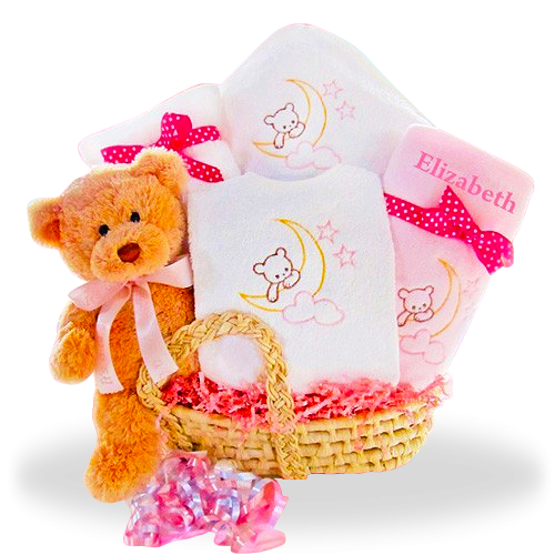 Beary Sweet Baby Girl's Basket Price: $89.00 #GiftBaskets4Baby #Girl #gifts #giftbaskets #Baby For more information visit: www.GiftBaskets4Baby.com