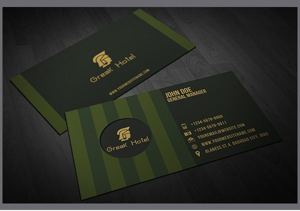 30 Amazing Hotels And Resorts Business Card Designs With Images