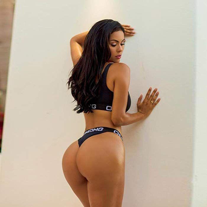 b301e776693 Amazon.com  Challyhope Hot Sale! Womens Sexy Lingerie Corset Bandage OMG  Print Sports Bra+Pants Underwear Set (S