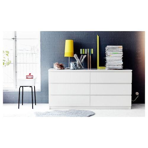 Cassettiera Ikea Malm 6 Cassetti Rovere.Malm Cassettiera Con 6 Cassetti Bianco Nel 2019 Bedroom Malm