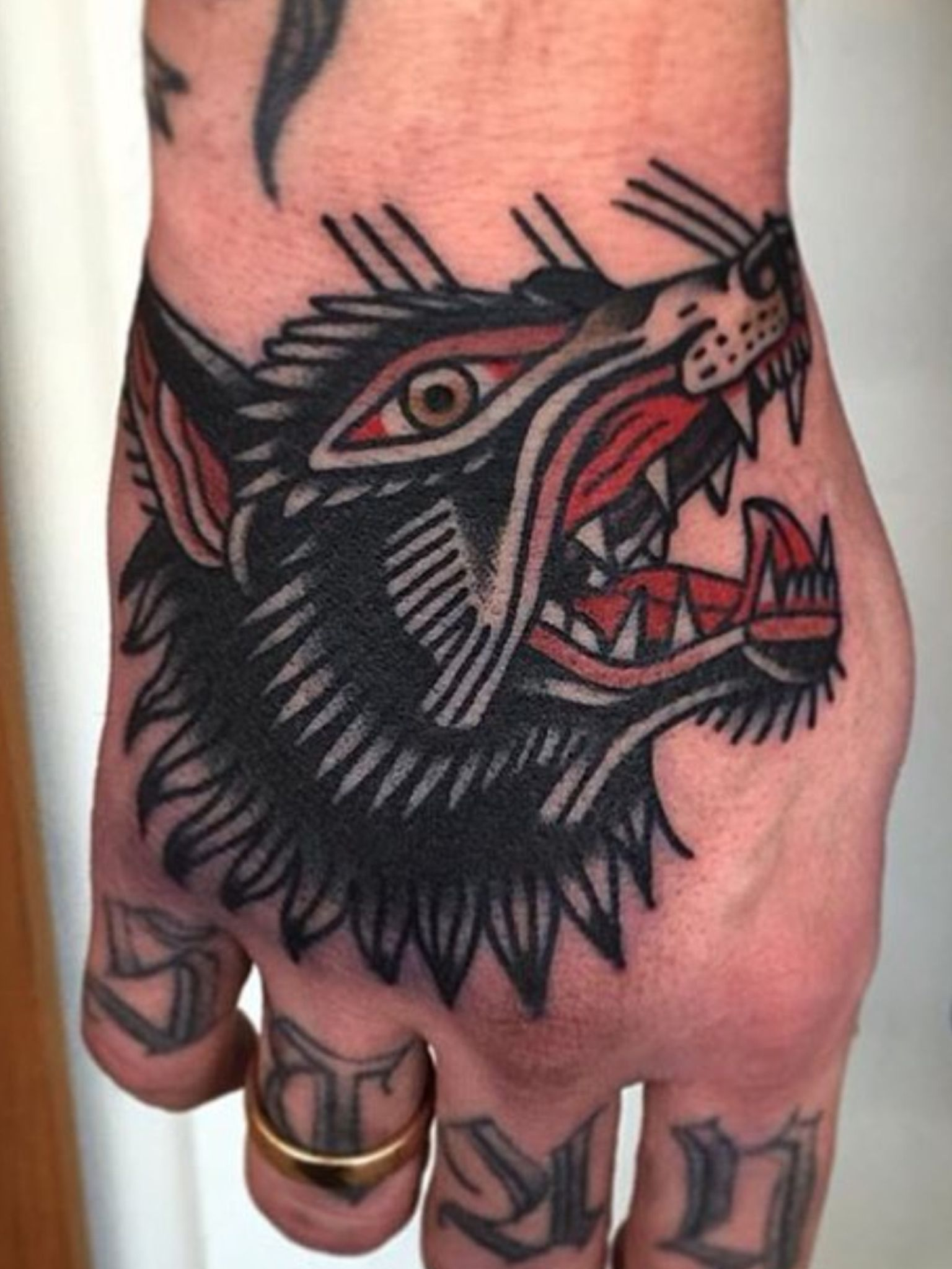 Traditional Wolf: Wolf Tattoo Traditional, Hand