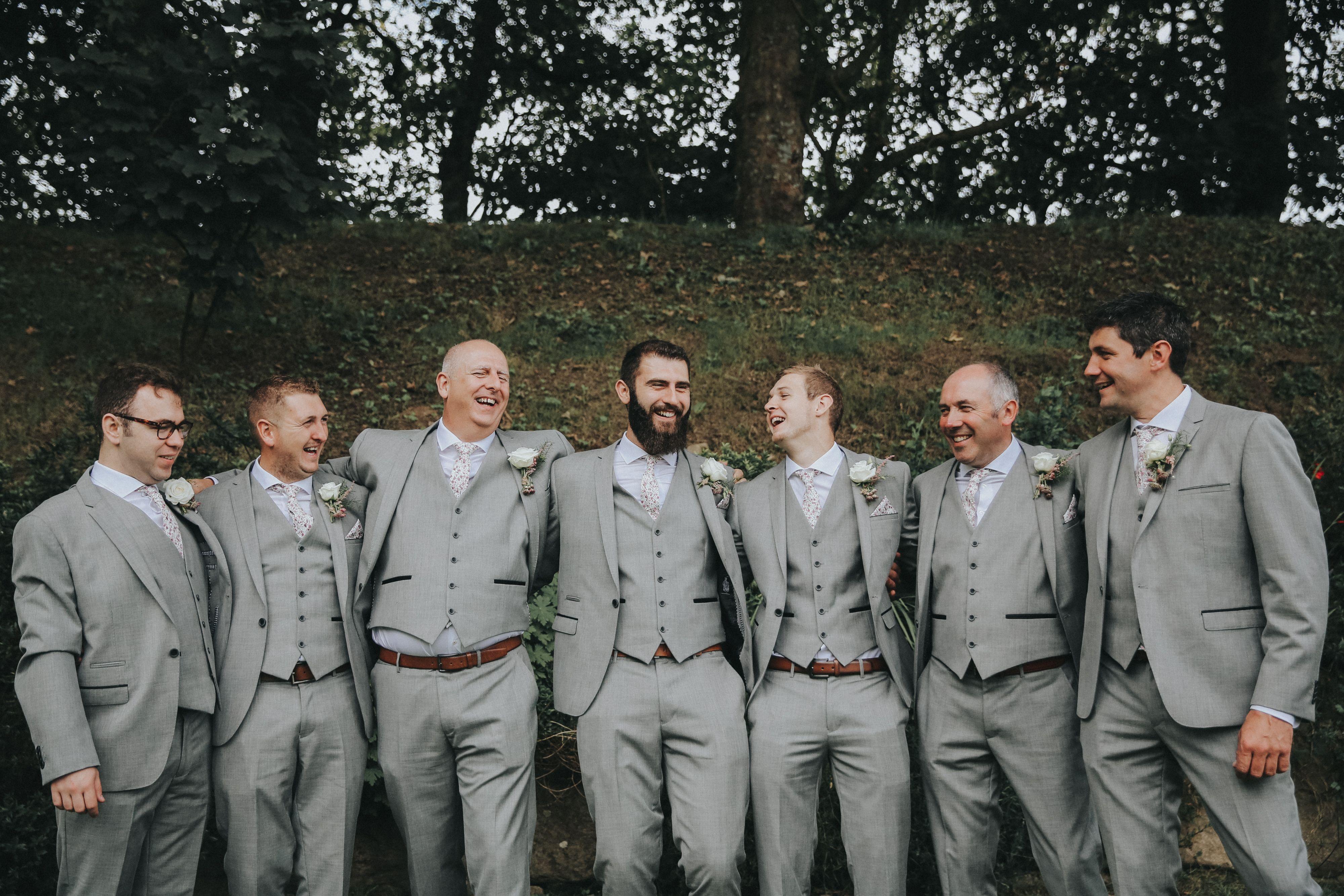 Grey Wedding Suit Grooms Grey Wedding Suit Groomsmen Suits Ushers Suits Grey Suit Wedding Groomsmen Suits Usher Suits