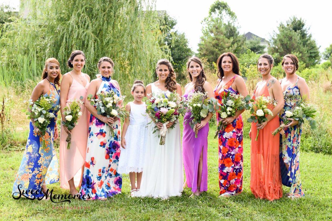 Mismatched Bridesmaids Dresses Floral Bridesmaid Dresses Boho Summer Wedding With Wild Flo Bridesmaid Floral Bridesmaid Dresses Mismatched Bridesmaid Dresses