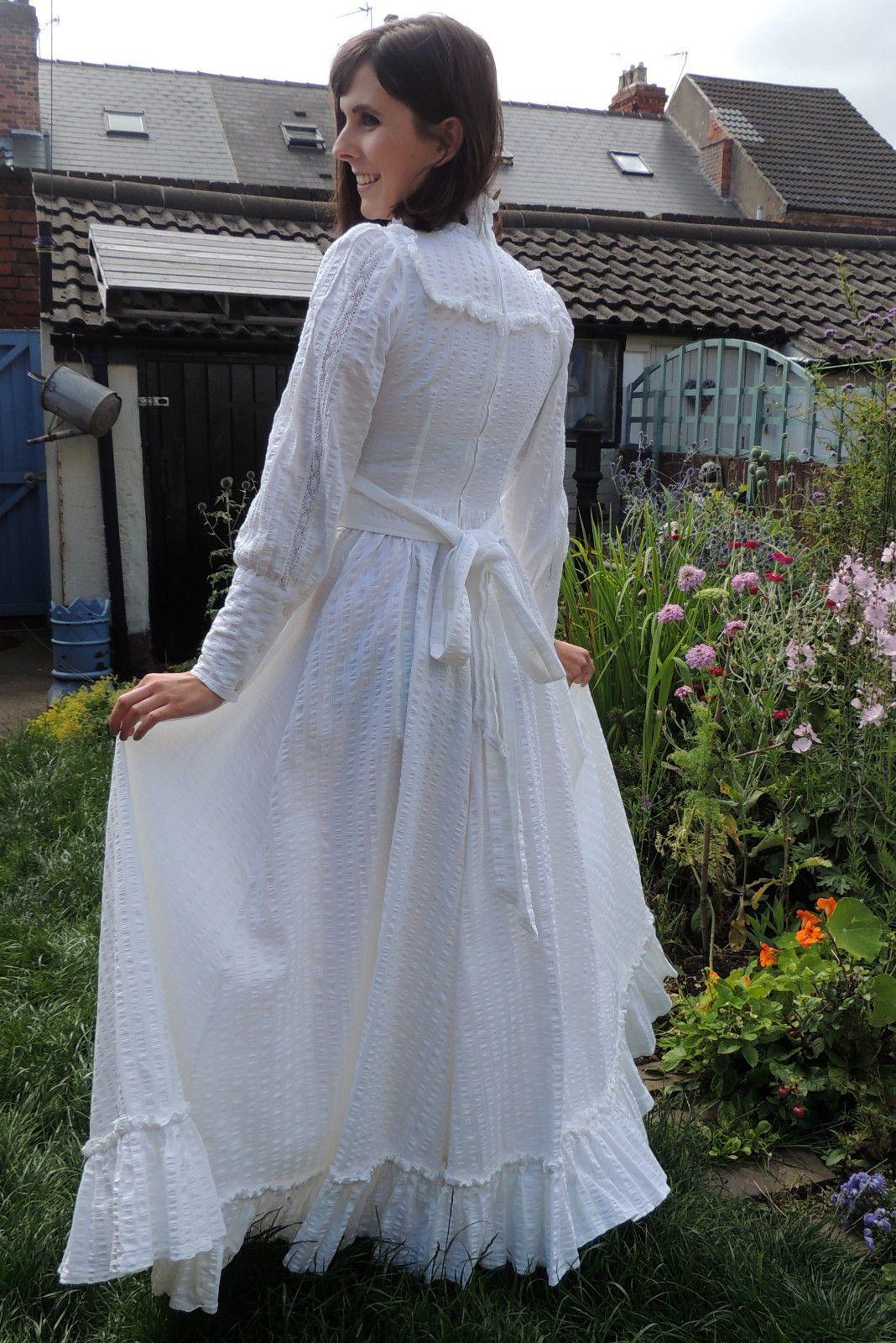 Vintage LAURA ASHLEY Romantic Victorian Edwardian 1970s WEDDING ...