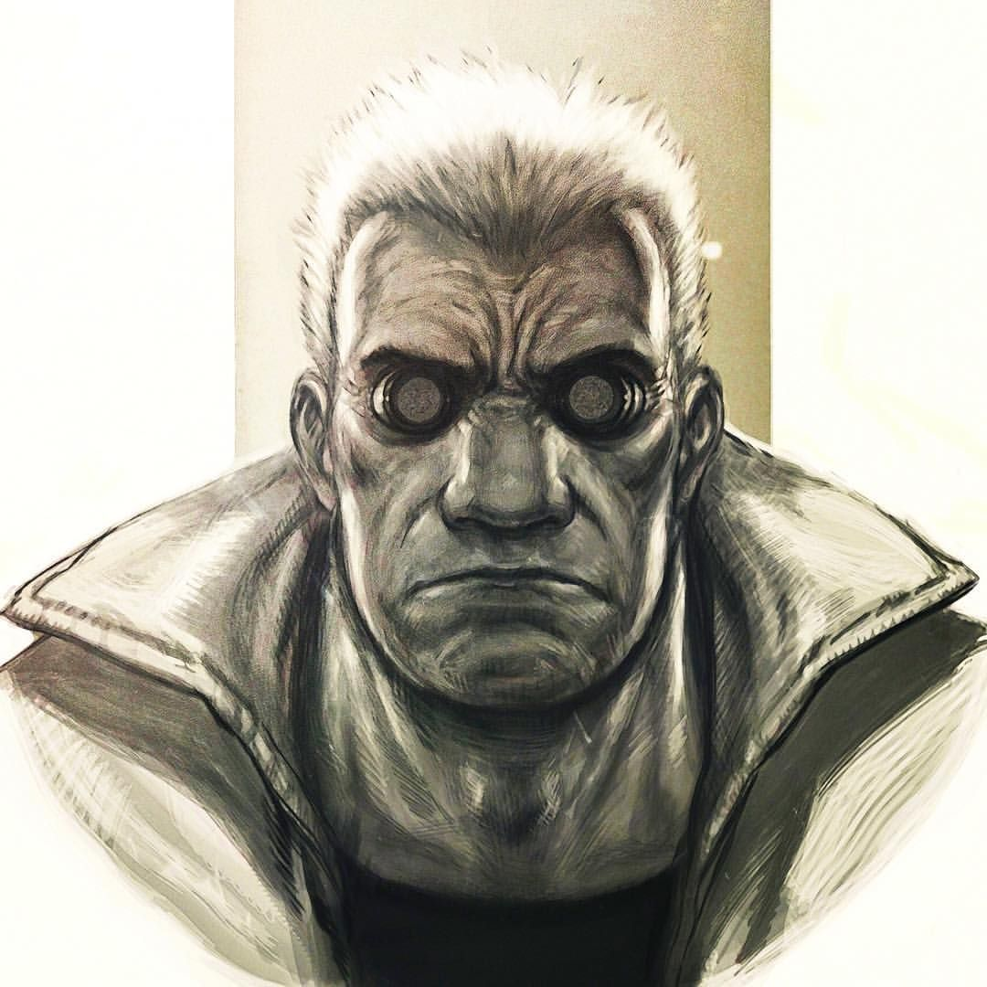 Batou From Ghost In The Shell Digital Sketch In Photoshop Batou Ghostintheshell Gits Manga Anime Art Artist Artw Ghost In The Shell Cyberpunk Art Art