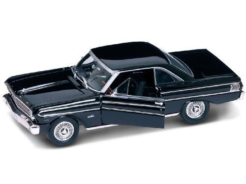 1964 Ford Falcon Gray 1:18 Diecast Model Car by Yat Ming. $27.99. Made of diecast Opening doors Opening hood Wheels roll Steerable wheels Comes in window box Approximate Dimensions: L-10.5, W-4, H-3.5