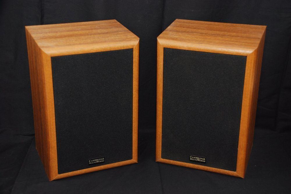 VTG Cambridge Soundworks Model Seventeen 17 Bookshelf Speakers Pair Henry Kloss CambridgeSoundworks