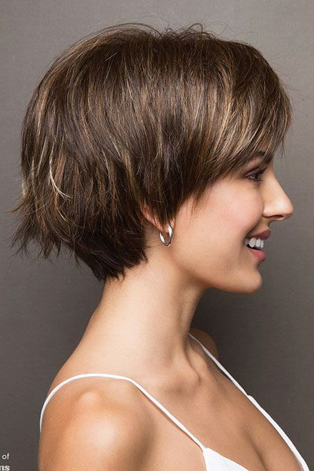 23 Short Layered Haircuts with Bangs #shortlayeredhaircuts