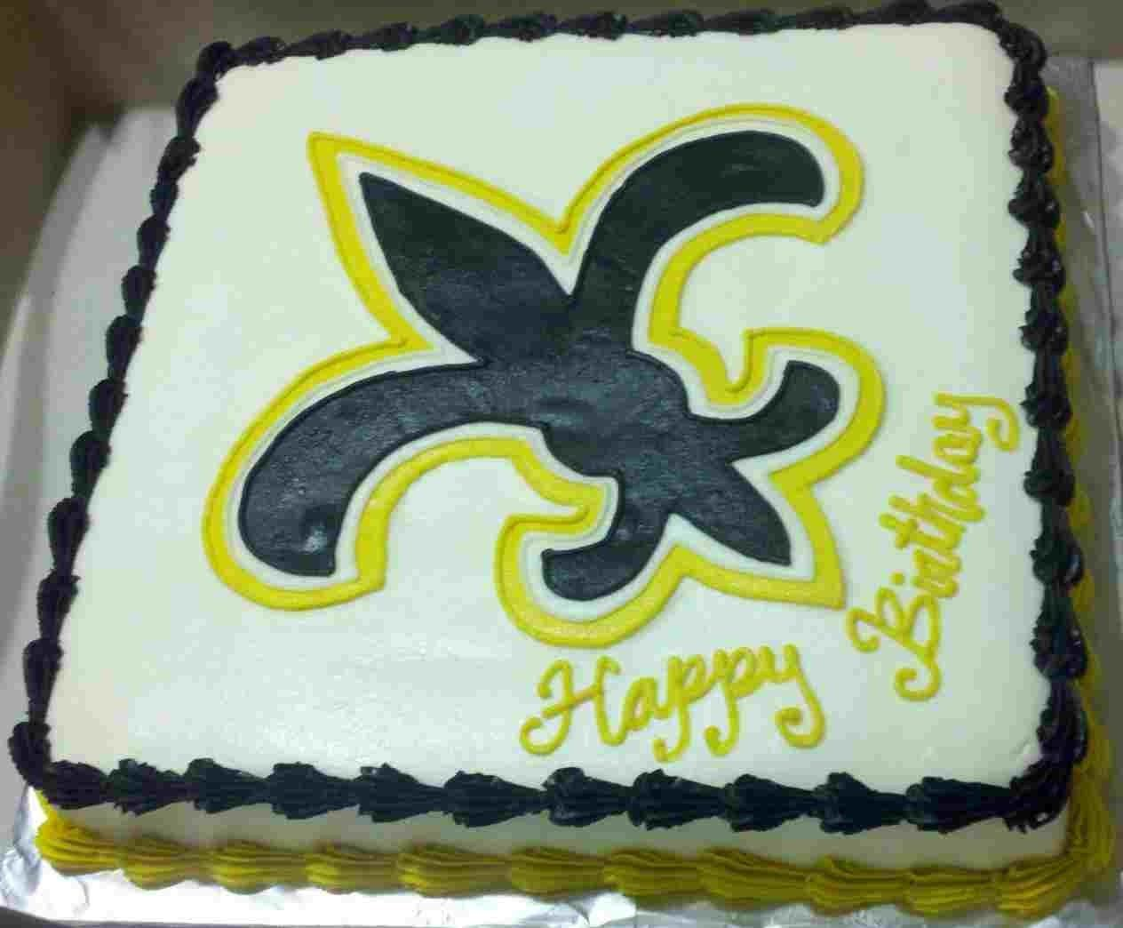 27 Best Photo Of Saints Birthday Cake Cakes Woodlands Boutique New Orleans BirthdayCakeImages