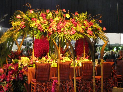 There Were A Large Number Of Huge Flower Arrangements Of