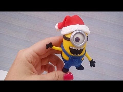 Christmas Minion cold porcelain / polymer clay tutorial