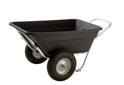 smart cart lx 7 cubic ft gardenutility cart turf wheels smart carts - Garden Utility Cart