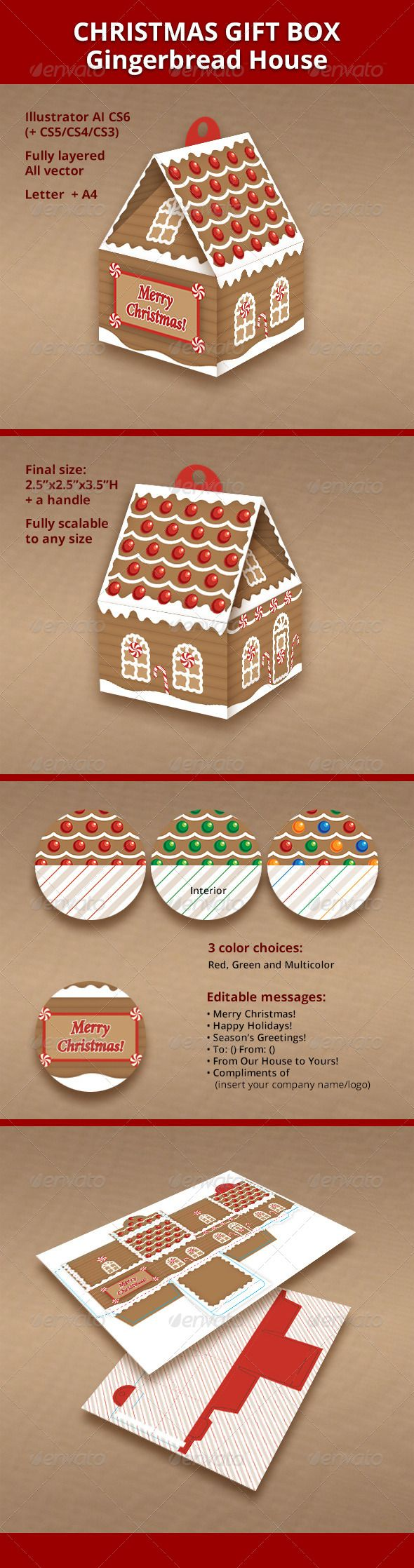 Gingerbread House Box Design on candy box, fireplace box, halloween box, biscotti box, tiramisu box, pig roast box, butterfly box, text box, cookie dough box, gumbo box, ornament box, church box, brownies box, panettone box, giveaway box, icing box, ginger box, cupcake house box, fudge box, rose box,