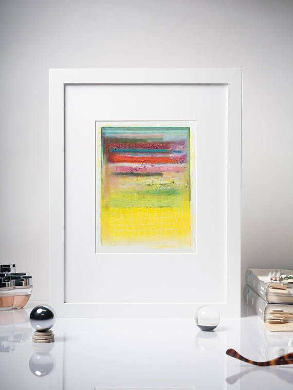 6x8\'\' Modern Acrylic Painting, Original Abstract Study Painting ...