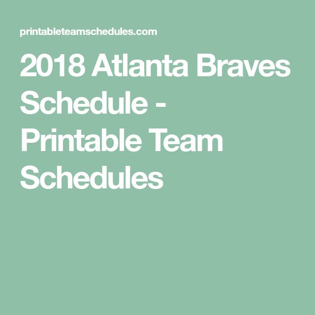 printable team schedules
