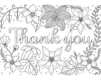 Thank You Cards Printable Coloring Page | Color Me Happy | Adult ...