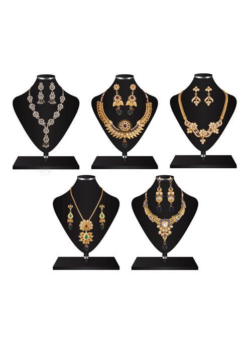 5 Fashion Necklace Jewellery Set Combo