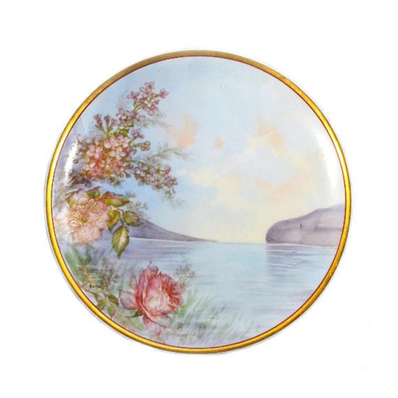 Antique Haviland Limoges Hand Painted Signed Plate  sc 1 st  Pinterest & Antique Haviland Limoges Hand Painted Signed Plate | Painted signs ...