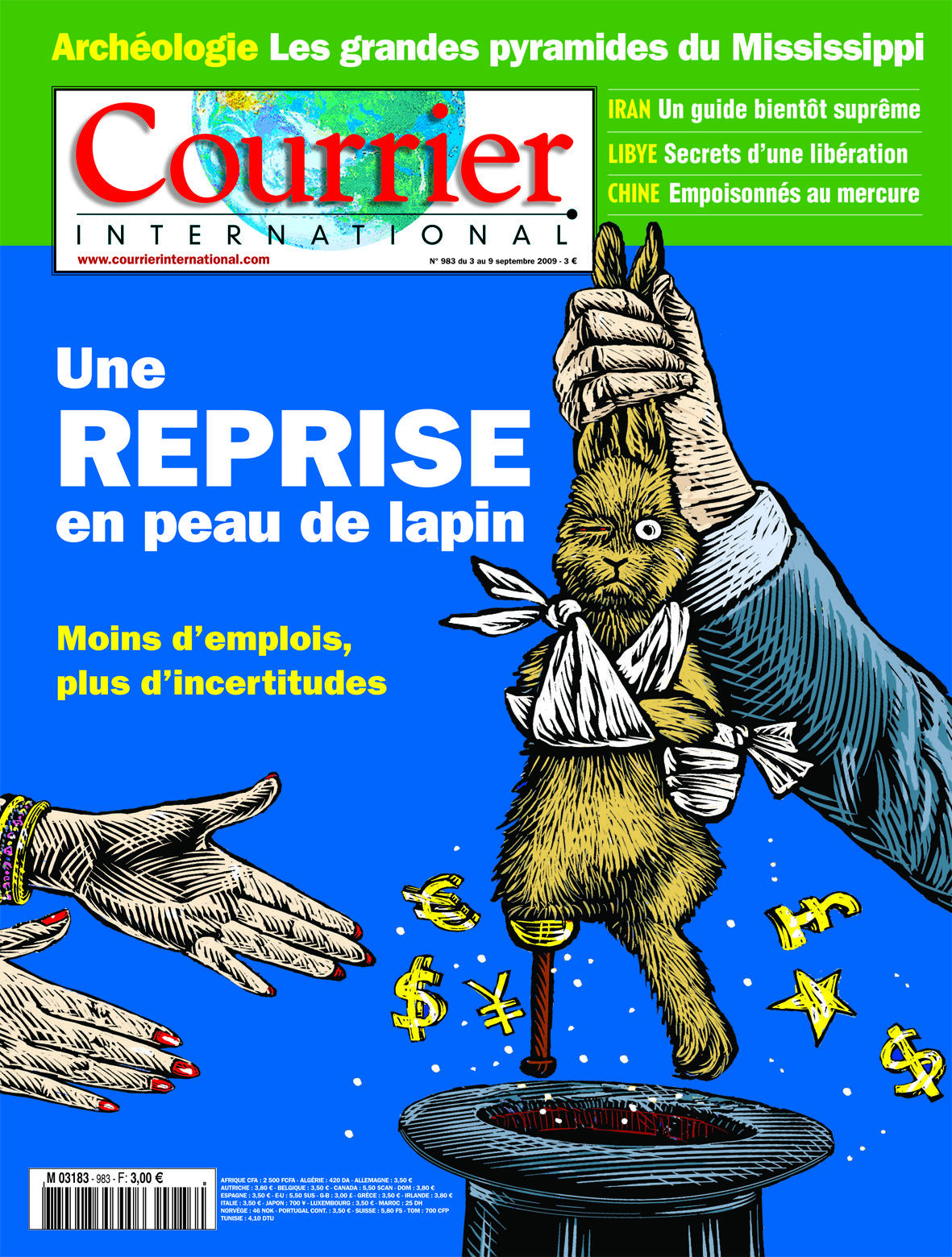 Hebdo N 983 Du 03 Septembre 2009 Peau De Lapin Courrier International Reprise