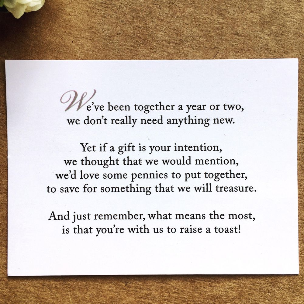 Wedding Money Poems: How To Ask For Money Instead Of Gifts