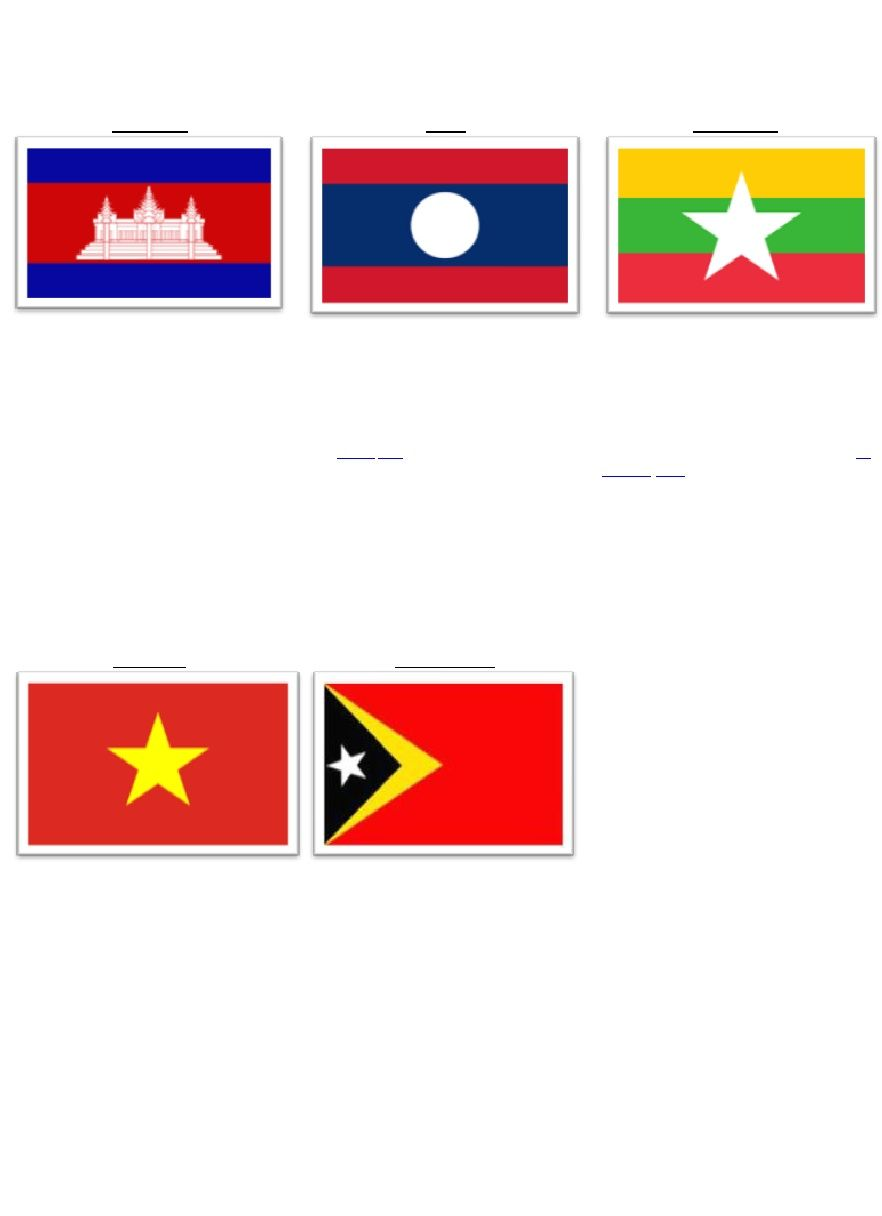 Bendera  Negara Di Asia Tenggara Bendera Kamboja Asia