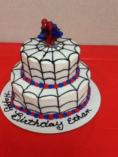 Easy Spiderman Cake Google Search Spiderman Birthday Cake