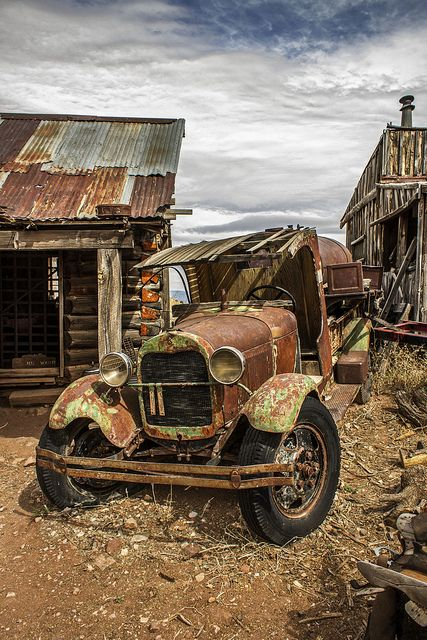 Old Truck Near Jerome Az Abandoned Old Trucks Abandoned Cars