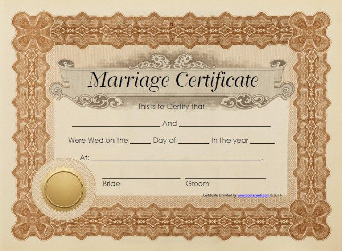 Marriage Certificate Template Stationary Templates Pinterest - wedding certificate template