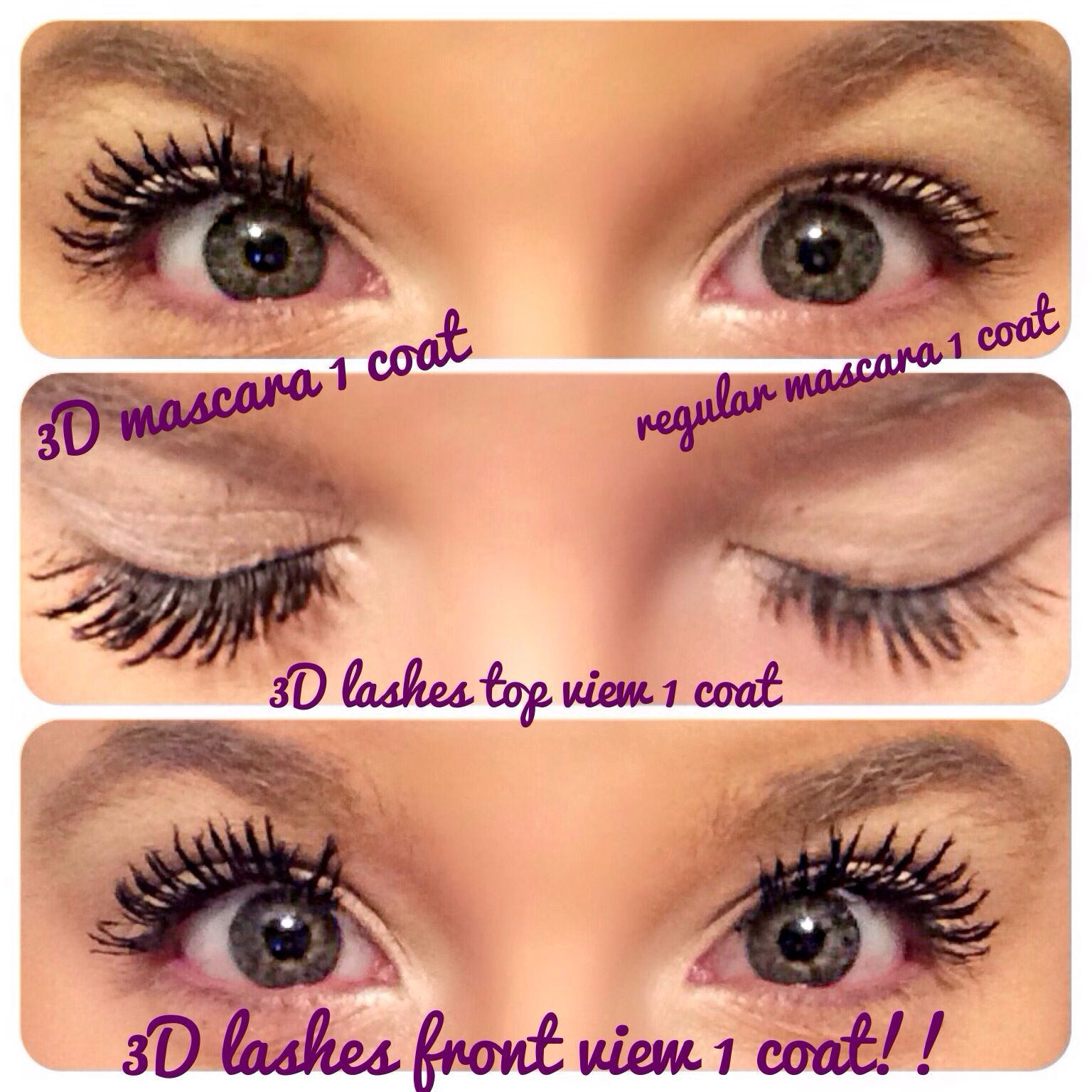 c0a72fdd3e5 So awesome to see the comparison between 1 coat or regular mascara compared  to 3D fiberlashes