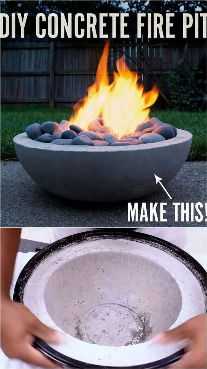 Feuerschale Quiero How To Make A Diy Modern Concrete Fire Pit From Scratch Diy