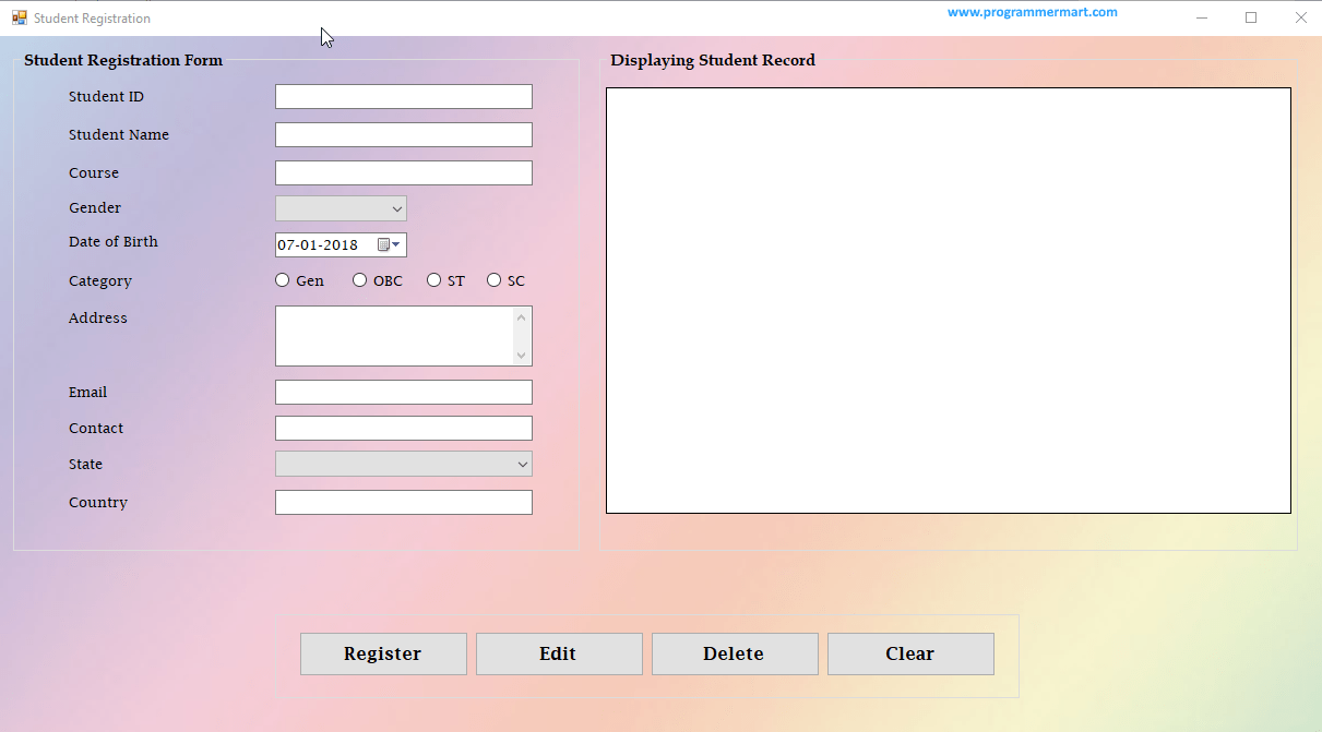 How to create a registration form using java swing programmer how to create a registration form using java swing programmer mart pinterest registration form baditri Image collections