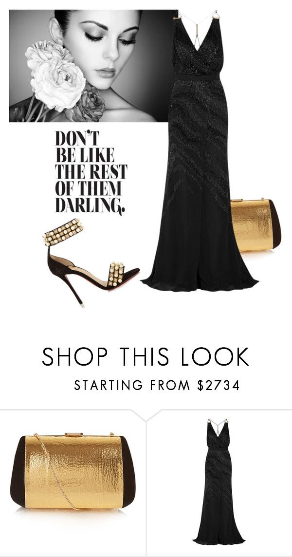 """""""The Night..."""" by daisy57 ❤ liked on Polyvore featuring Nina Ricci, Roberto Cavalli and Christian Louboutin"""