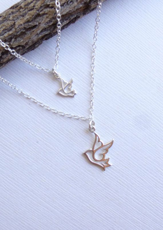 Sterling Silver Mother and Daughter Peace by tinycottagetreasures