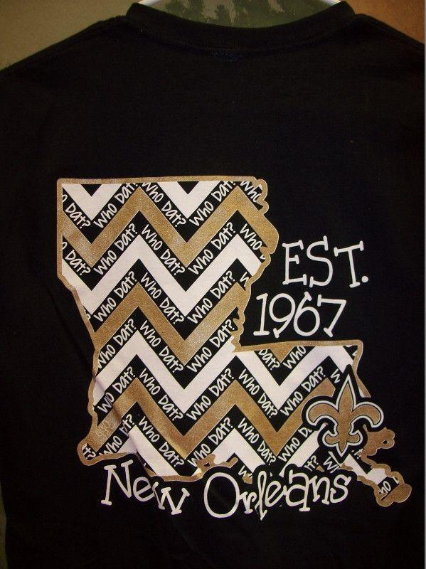 Girlie Girl T Shirt Saints Chevron Pattern Who Dat Shirts T Shirt Who Dat