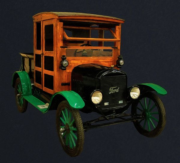 1917 Ford Model T Truck Digital Oil By Chris Flees Ford Models