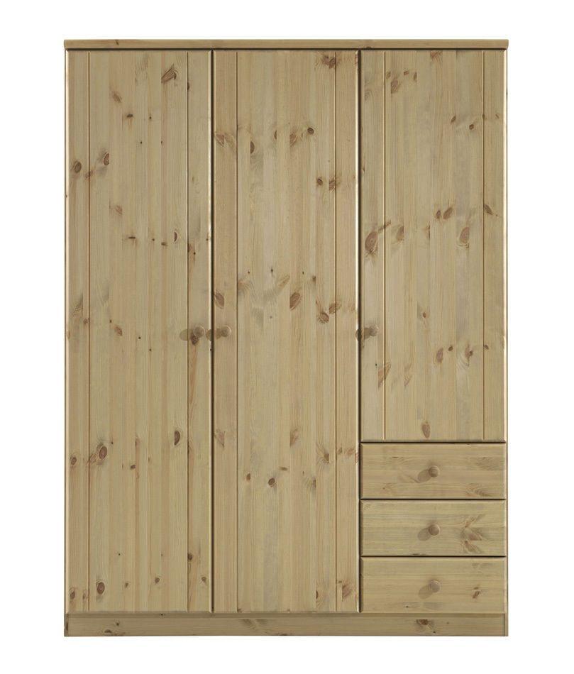RIBE - Kleiderschrank 3-trg Kiefer massiv - in 3 Farben lieferbar - schlafzimmerschrank erle massiv