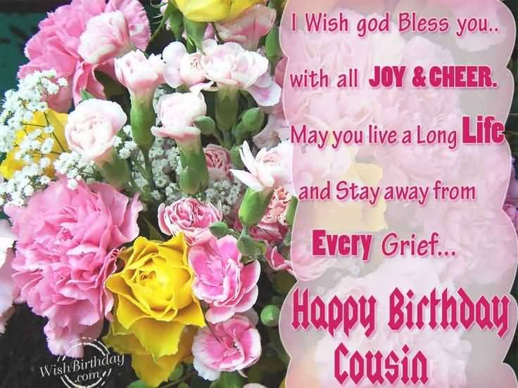 Awesome flower birthday wishes for cousin general birthdays awesome flower birthday wishes for cousin m4hsunfo