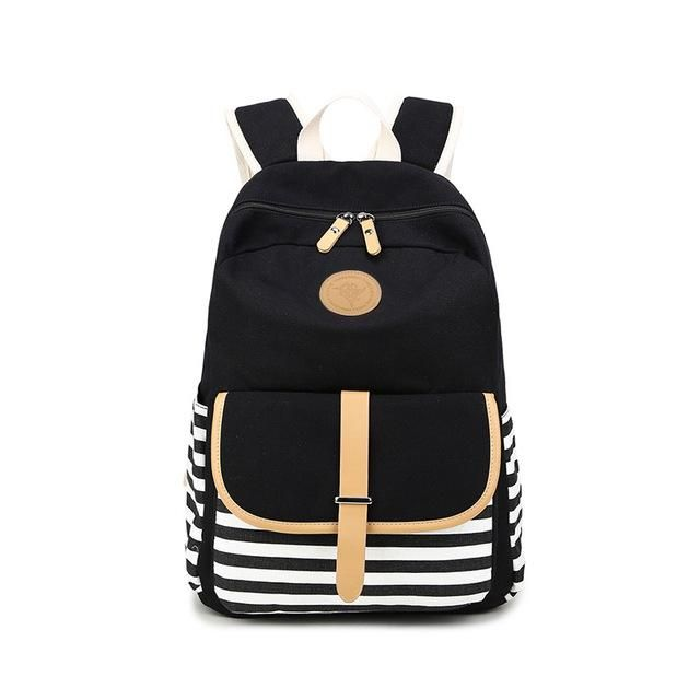595d7ed7b32b Women Backpacks For Teenage Teen Girls Canvas Backpack Female Striped Feminine  Backpack School Bagpack Girl Mochila Feminina Bag