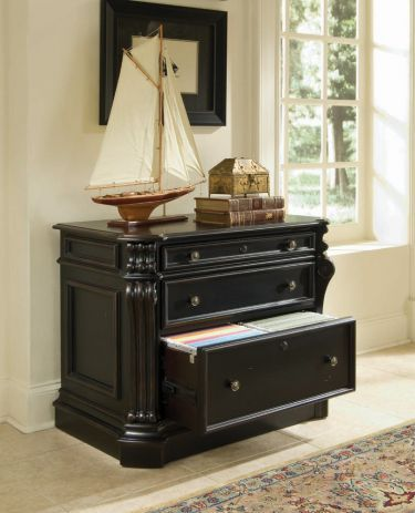 buy home office furniture give. Shop For Hooker Furniture Telluride Lateral File, And Other Home Office Cabinets Furniture. Telluride\u0027s Black Paint Finish With Heavy Reddish Brown Buy Give F