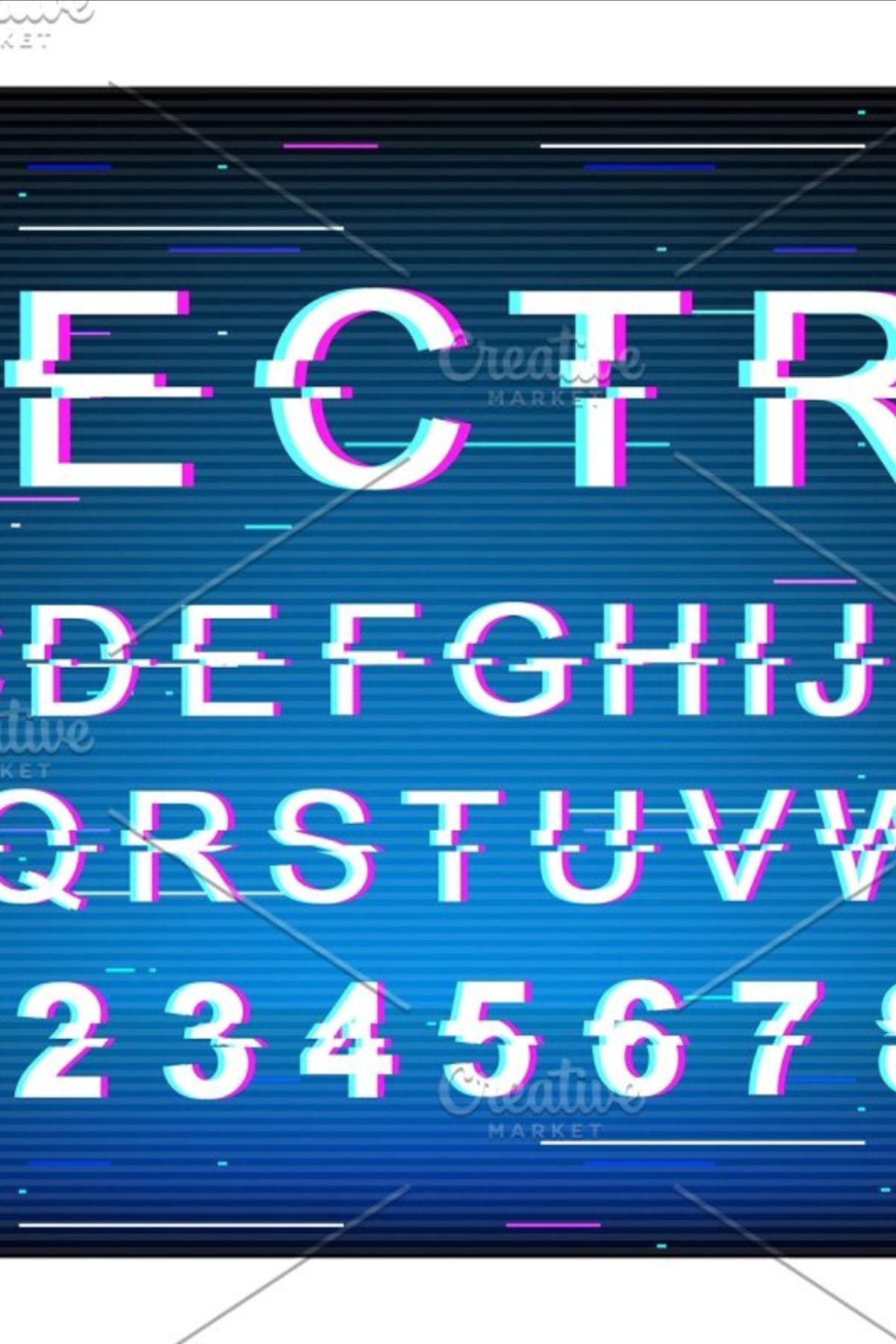 Electric glitch font template in 2020 Glitch font, Retro