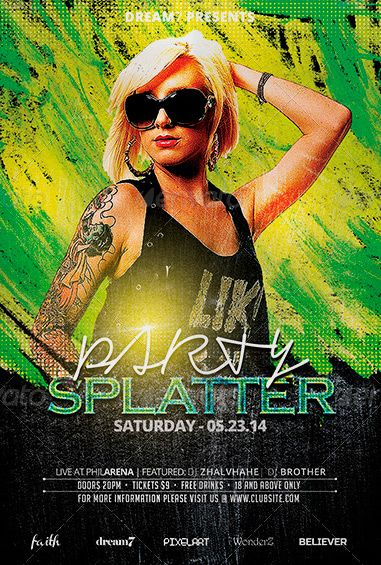 Club \ Party Summer Flyer Template - http\/\/wwwffflyer\/club - summer flyer template