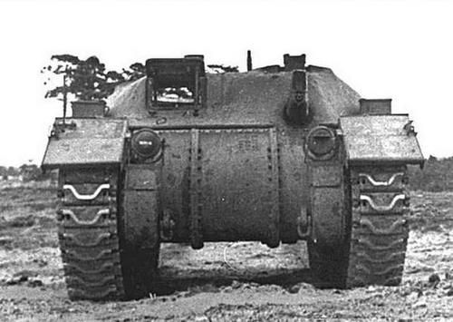 Canadian Army Ram Badger flamethrower tank. Converted from Ram I tanks with Wasp flamethrower installed, the Canadian Army used these in 1945 in the Netherlands and Germany