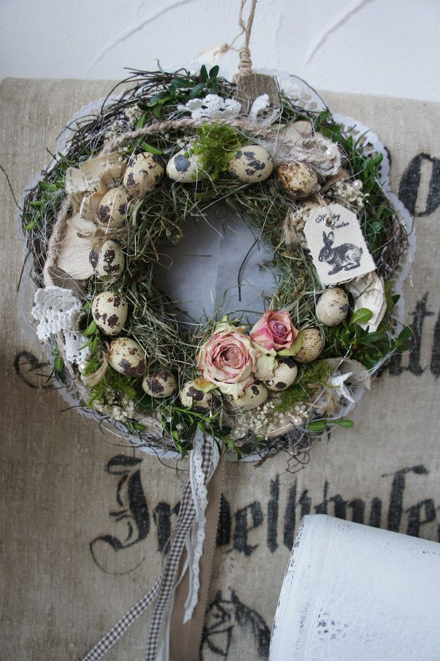 Photo of A magically beautiful natural wreath for indoor use (because of the toroc …