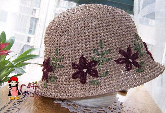 几款遮阳帽——棉草拉菲(补充图解) - 乐拼的日志 - 网易博客